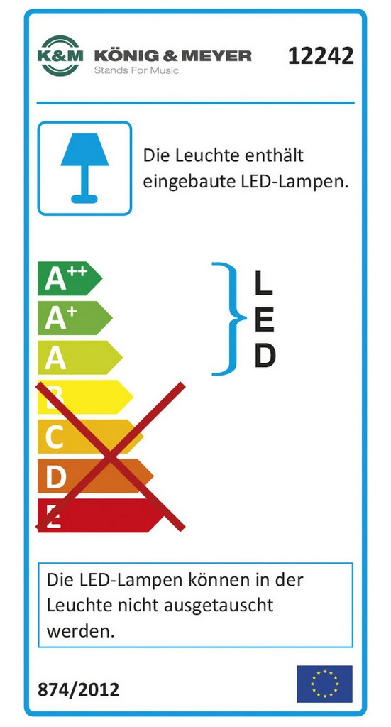 K&M Notenpultleuchte 2 LED FlexLight Bild 2