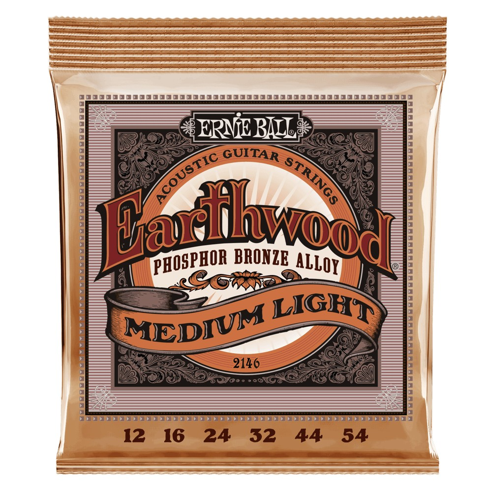 Ernie Ball Earthwood Phosphor Bronze 012 - 054 für Westerngitarre