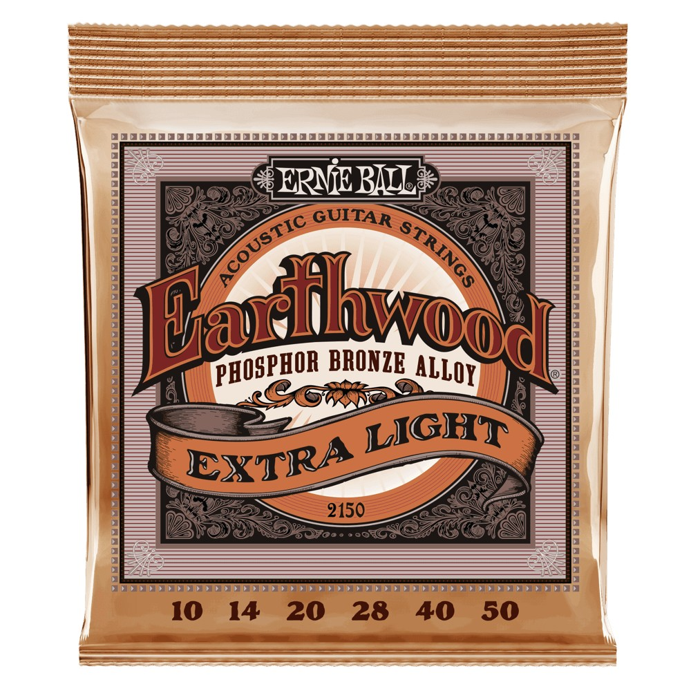 Ernie Ball Earthwood Phosphor Bronze 010 - 050 für Westerngitarre