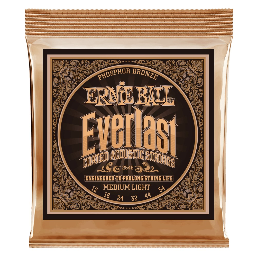 Ernie Ball Everlast Coatet Phosphor Bronze 012 - 054 für Westerngitarre