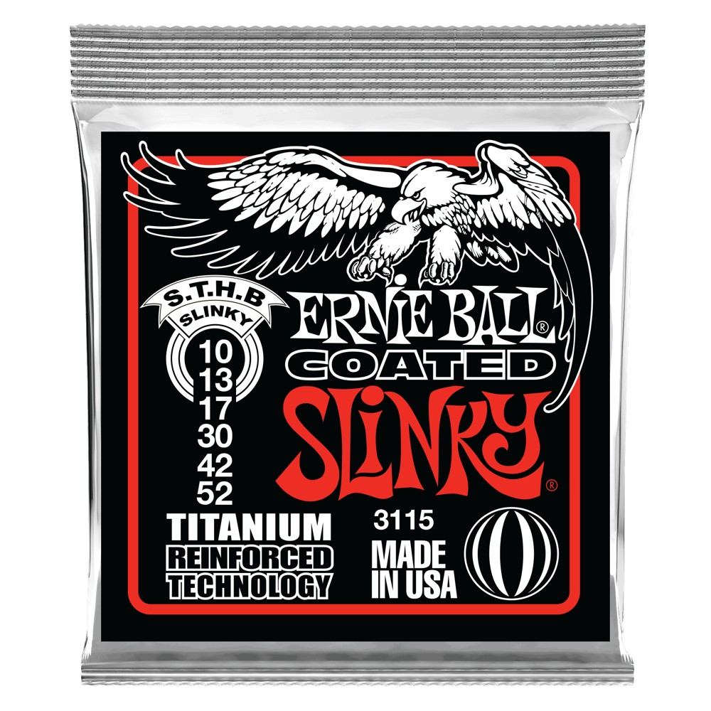 Ernie Ball Heavy Skinny Top / Bottom Slinky Coated Titanium 010 - 052