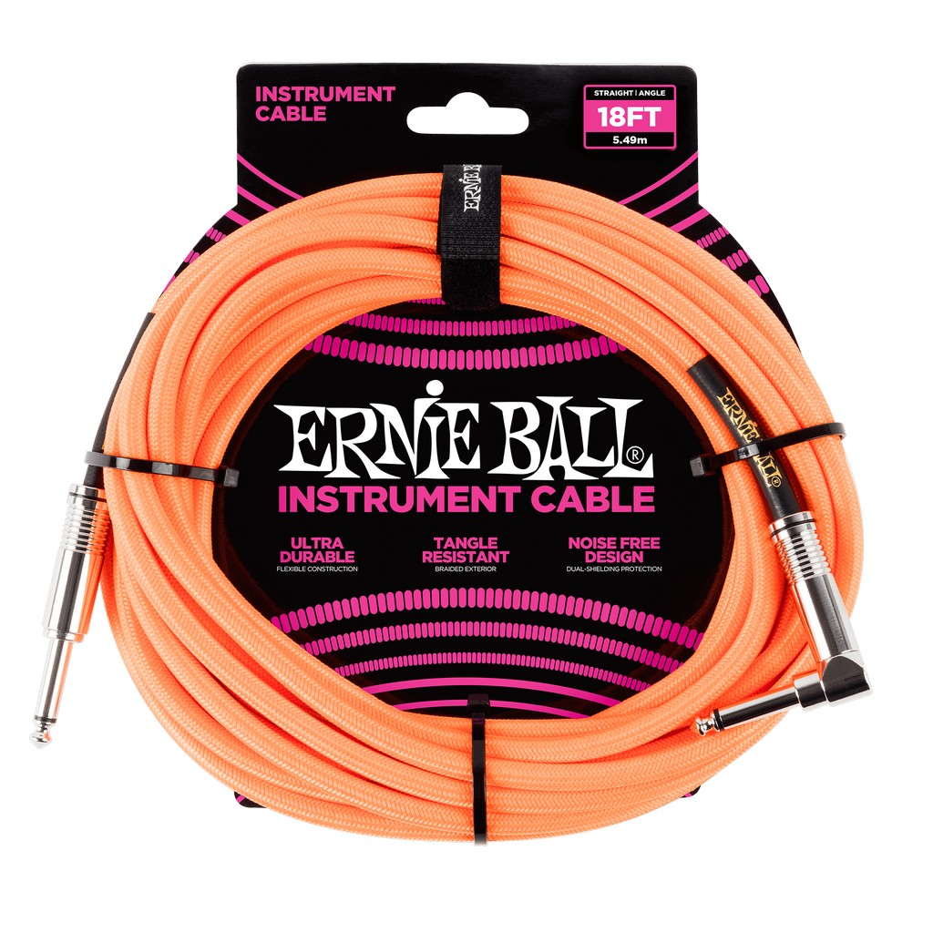 Ernie Ball Instrumentenkabel Neon Orange