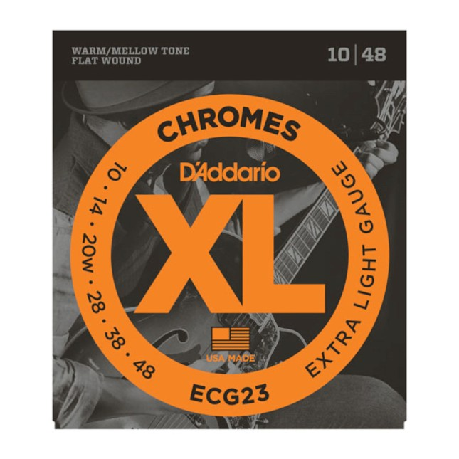 D'Addario ECG23 Chromes Flat Wound,Extra Light