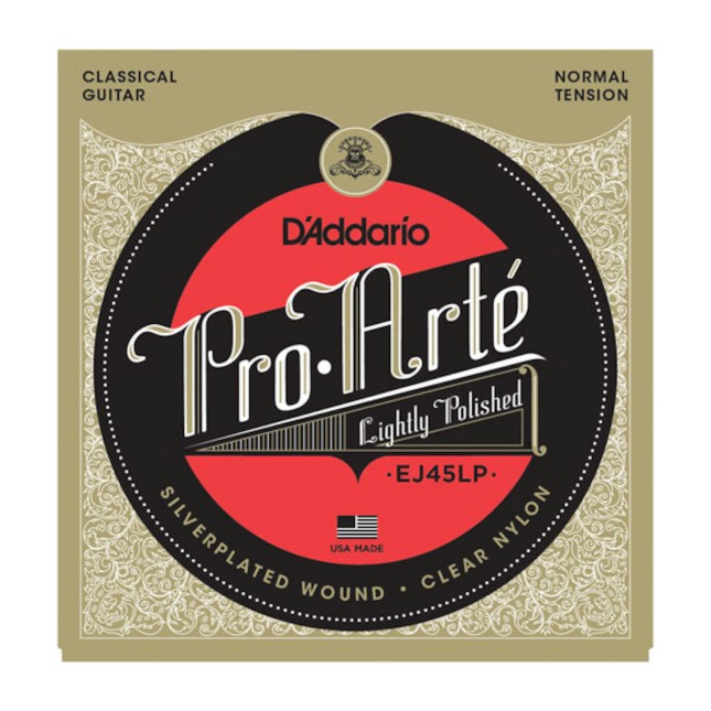 D'Addario EJ 45 LP Medium - Lightly Polished Silver