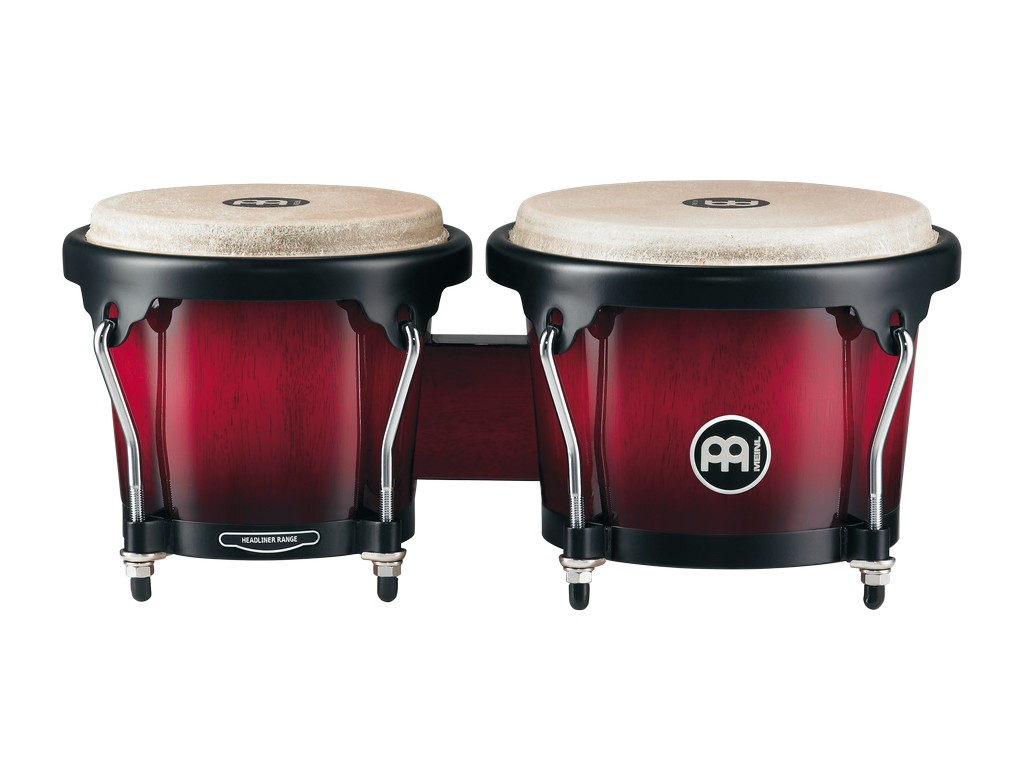 MEINL Bongos Headliner Series Wine Red Burst
