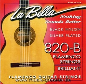 La Bella 820 Black Nylon Flamencosaiten
