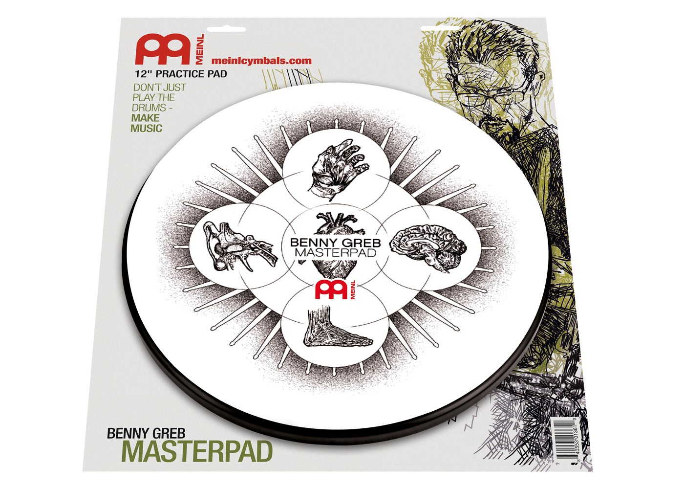 MEINL Practice Pad 12Zoll Benny Greb