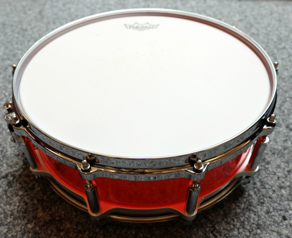 Pearl Snare Drum Crystal Beat Red 14x5