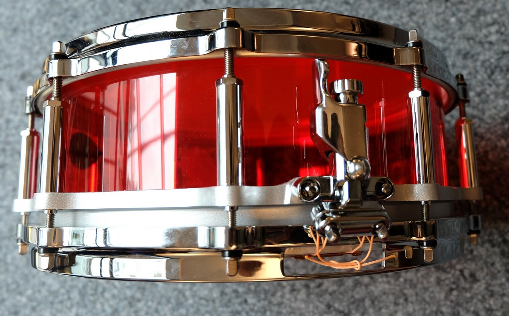 Pearl Crystal Beat Red 14x5 Snare Drum