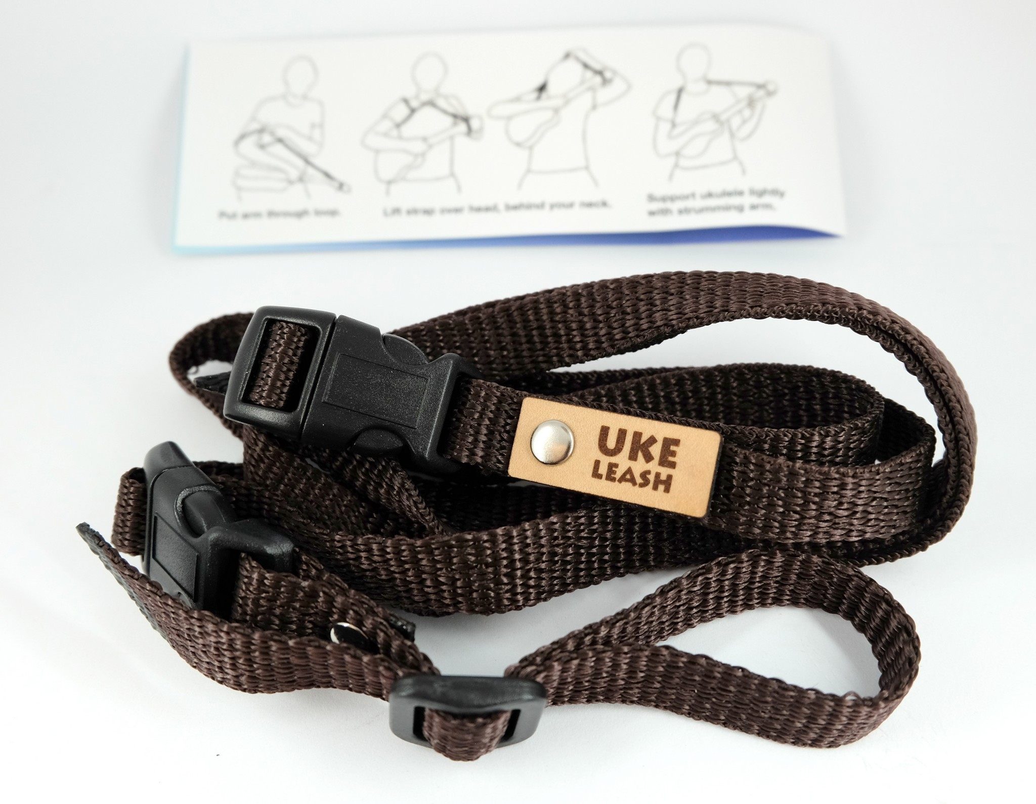 Uke Leash Ukulelengurt Medium Brown