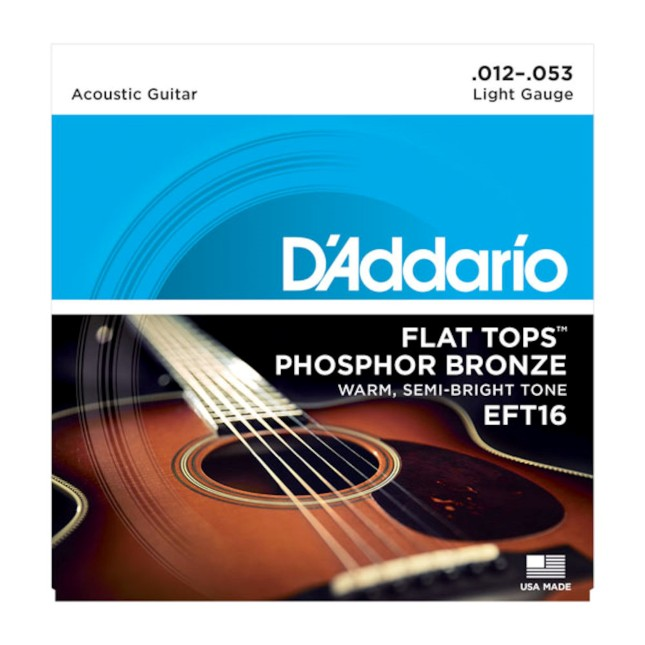 D'Addario EFT 16 Flat Tops, Light, 12-53