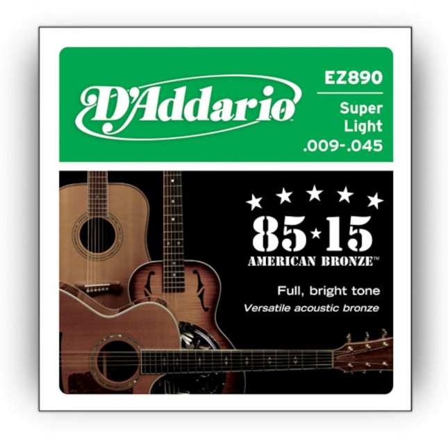 D'Addario EZ 890 Great American Bronze 85/15