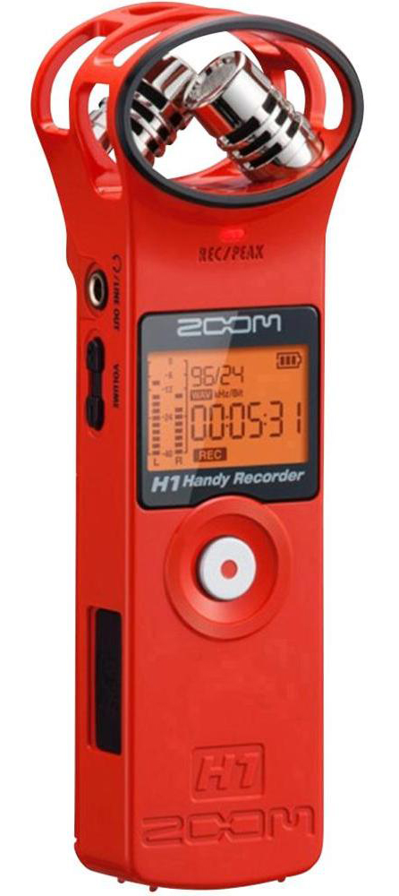 Zoom H1 Red Edition Handy Recorder